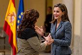 Queen Letizia Meets Council of The Royal Board Of...