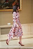 Queen Letizia Of Spain  Attends Audiences At Zarzuela...