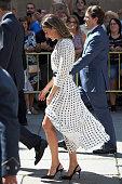 Spanish Royals Attend An Anniversary Event At Salamanca...