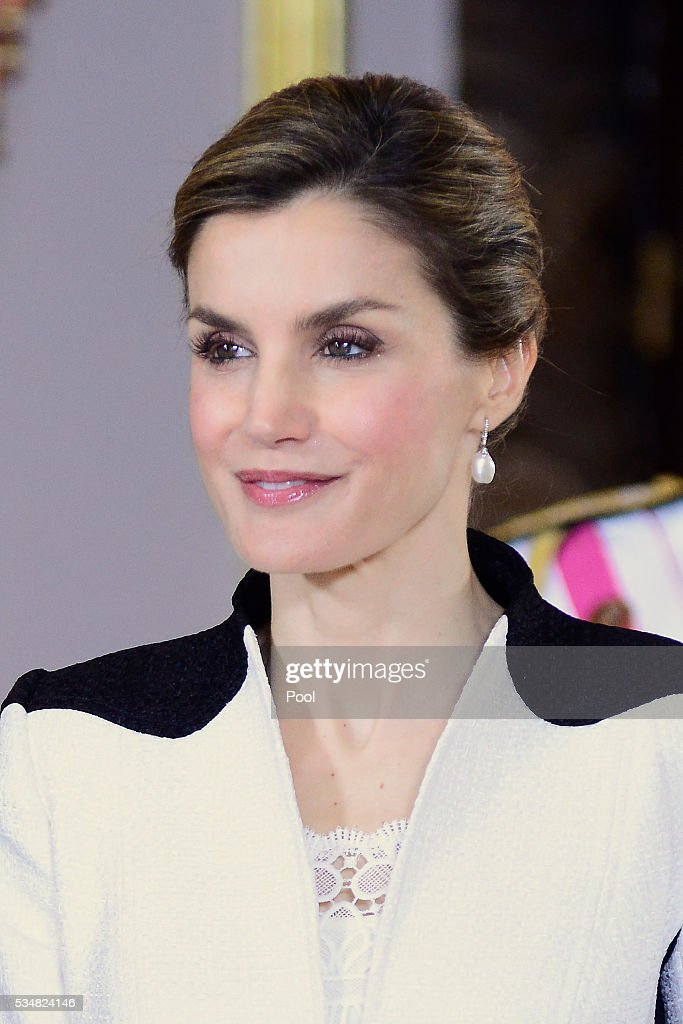 Queen Letizia of Spain attends the Armed Forces Day Hommage reception at the Royal Palace on May 28, 2016 in Madrid, Spain.