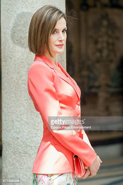 Queen Letizia of Spain attends the bicentenary of the Council of The Greatness of Spain on June 16 2015 in Madrid Spain