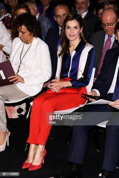 Queen Letizia of Spain attends the 'Discapnet' awards 2017 at the Somontes Club on June 26 2017 in Madrid Spain