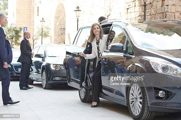Queen Letizia of Spain attends the Easter Mass at the Cathedral of Palma de Mallorca on April 5 2015 in Palma de Mallorca Spain