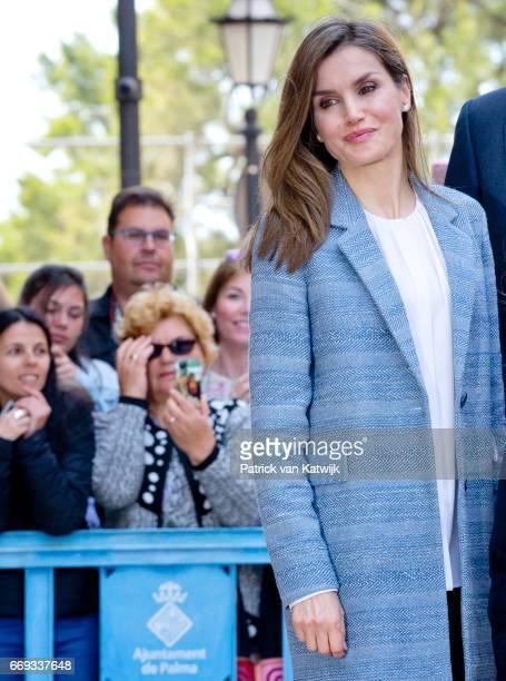 Queen Letizia of Spain attends the easter mass on April 16 2017 in Palma de Mallorca Spain