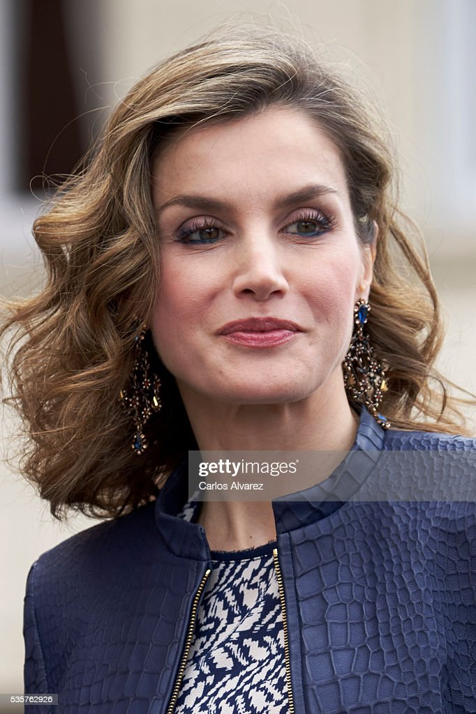 Queen Letizia of Spain attends the 'El Bosco' 5th Centenary Anniversary Exhibition at the El Prado Museum on May 27, 2016 in Madrid, Spain.
