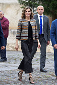 Queen Letizia of Spain attends the inauguration of the 11th International Seminar of Language and Journalism 'El Lenguaje del Humor en el Periodismo...