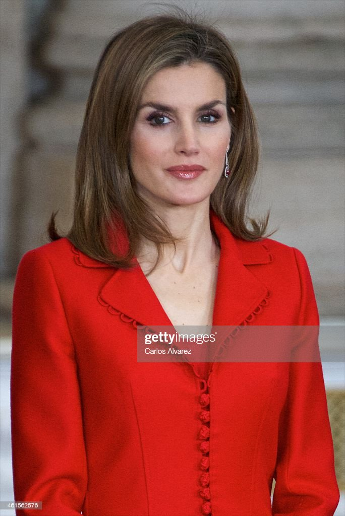 Queen Letizia of Spain attends the Investigation National Awards 2014 at the Royal Palace on January 15, 2015 in Madrid, Spain.