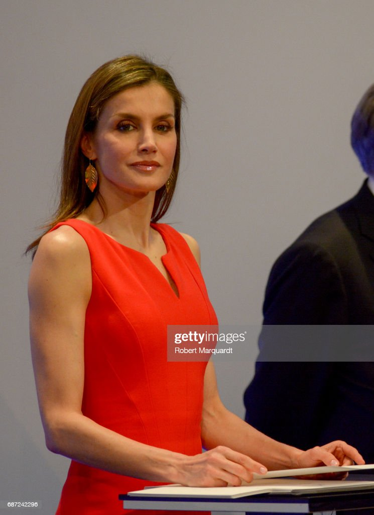 Queen Letizia of Spain attends the 'La Caixa' Scholarships held at the headquarters for La Caixa on May 23, 2017 in Barcelona, Spain.