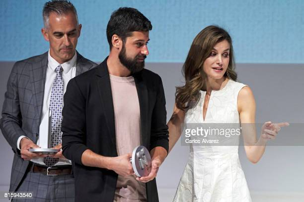 Queen Letizia of Spain attends the National Fashion Awards 2017 at Museo del Traje on July 17 2017 in Madrid Spain