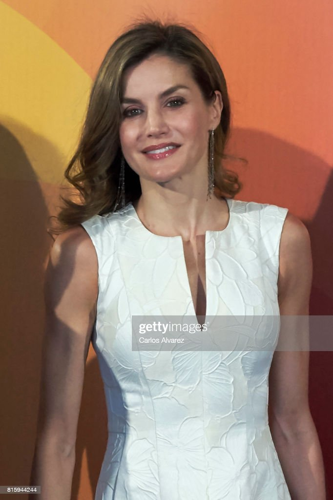 Queen Letizia of Spain attends the National Fashion Awards 2017 at Museo del Traje on July 17, 2017 in Madrid, Spain.