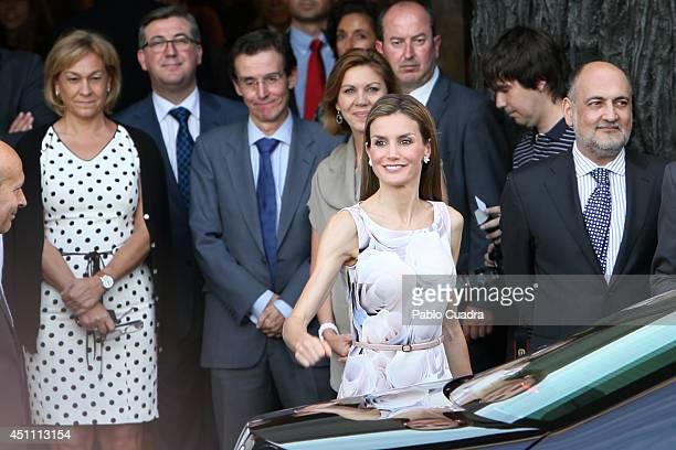 Queen Letizia of Spain attends The Opening of 'El Greco y La Pintura Moderna' Exhibition at El Prado Museum on June 23 2014 in Madrid Spain