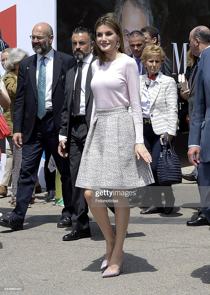 Queen Letizia of Spain attends the opening of Madrid Book Fair on May 27, 2016 in Madrid, Spain.