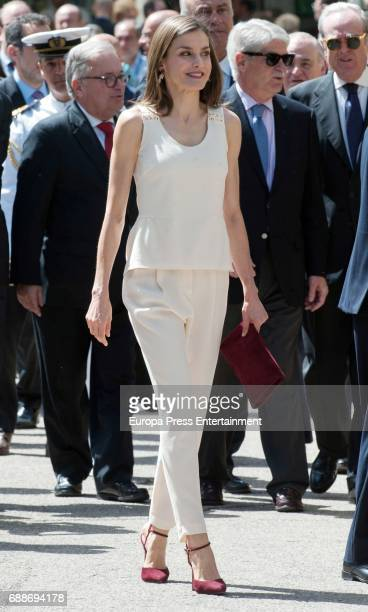 Queen Letizia of Spain attends the opening of the 2017 Book Fair at the Parque del Retiro on May 26 2017 in Madrid Spain