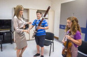 Queen Letizia of Spain attends the opening of the International Music School Summer Courses by Prince of Asturias Foundation at on July 18 2014 in...