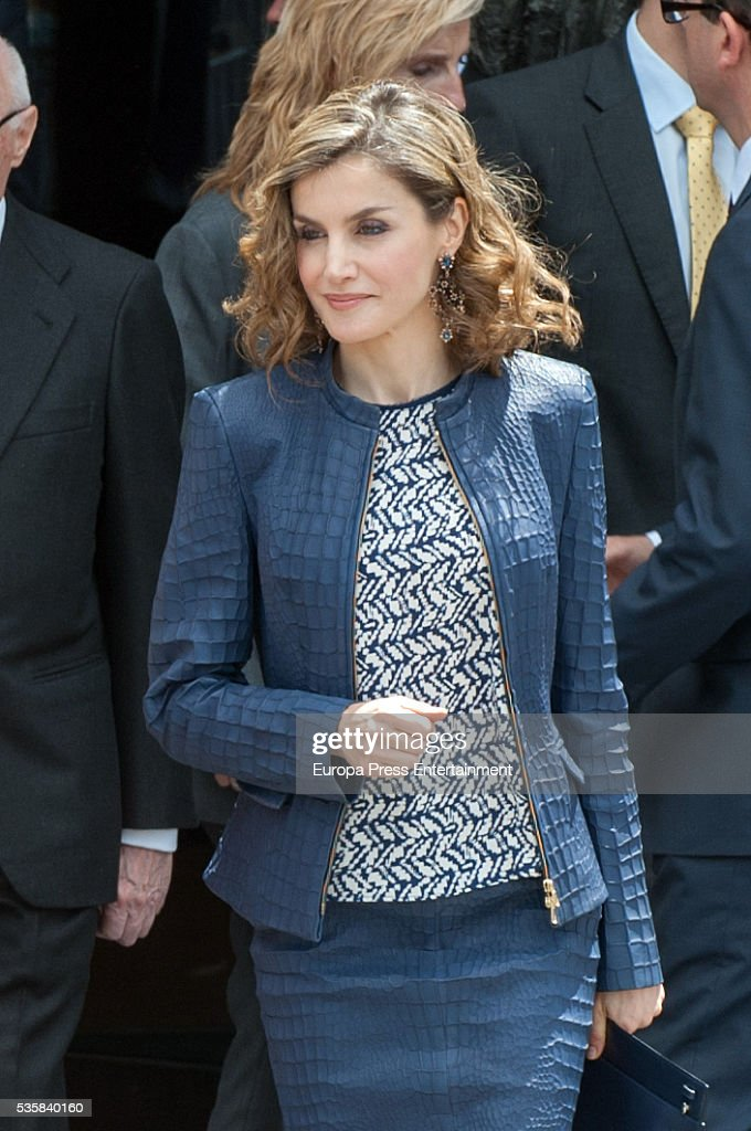 Queen Letizia of Spain attends the opening of the painting exhibition 'The Bosch' at El Prado Museum on May 30, 2016 in Madrid, Spain.