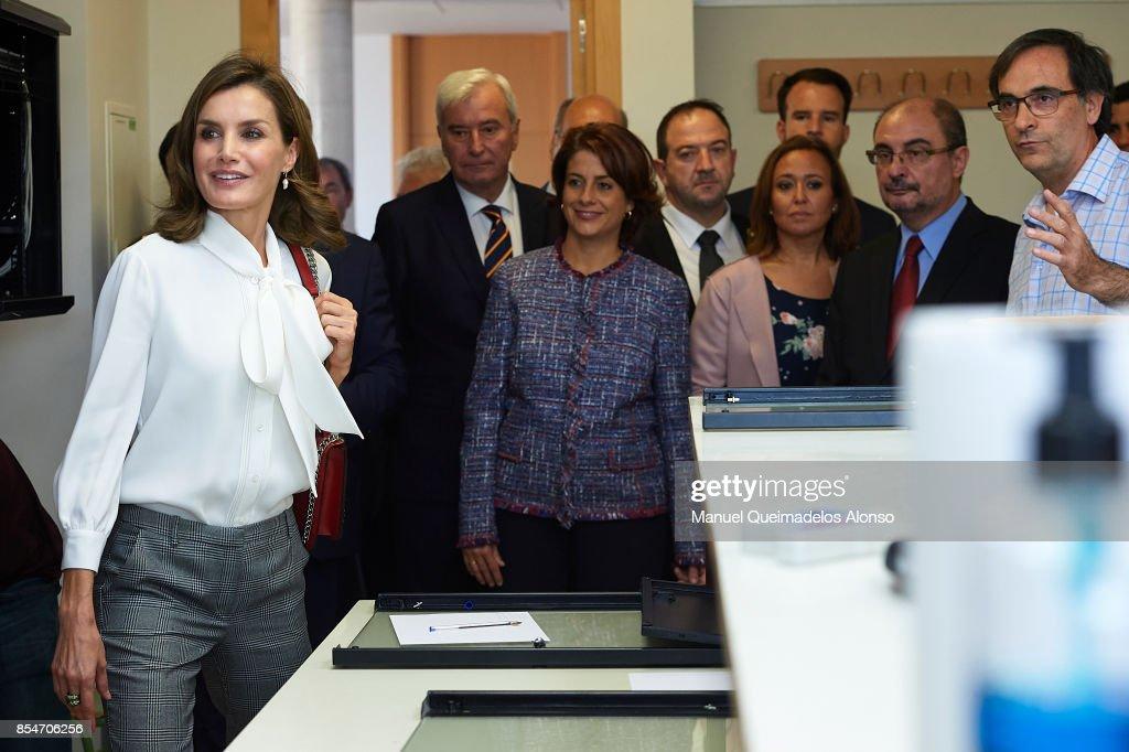 Queen Letizia of Spain attends the Opening of vocational training course 2017/2018 at Instituto de Educacion Secundaria 'Segundo de Chomon' on September 27, 2017 in Teruel, Spain.