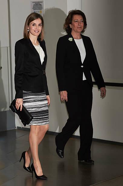 Queen Letizia Attends 'Por Un Enfoque Integral' Forum