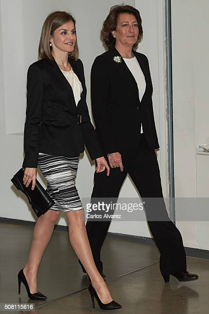 Queen Letizia of Spain attends the 'Por Un Enfoque Integral' forum at the Telefonica Foundation on February 3 2016 in Madrid Spain