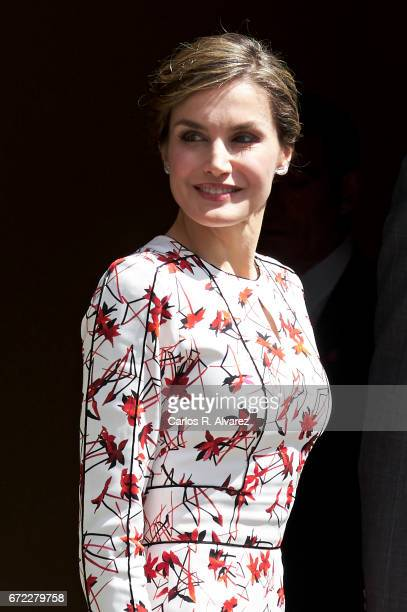 Queen Letizia of Spain attends the presentation on the Unesco World Heritage candidature of the Cultural Landscape of 'Risco Caido and Espacios...