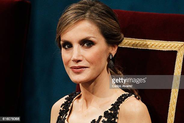 Queen Letizia of Spain attends the Princesa de Asturias Awards 2016 ceremony at the Campoamor Theater on October 21 2016 in Oviedo Spain