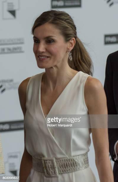 Queen Letizia of Spain attends the 'Princesa de Girona' foundation awards held at the Palacio de Congressos de Girona on June 29 2017 in Girona Spain