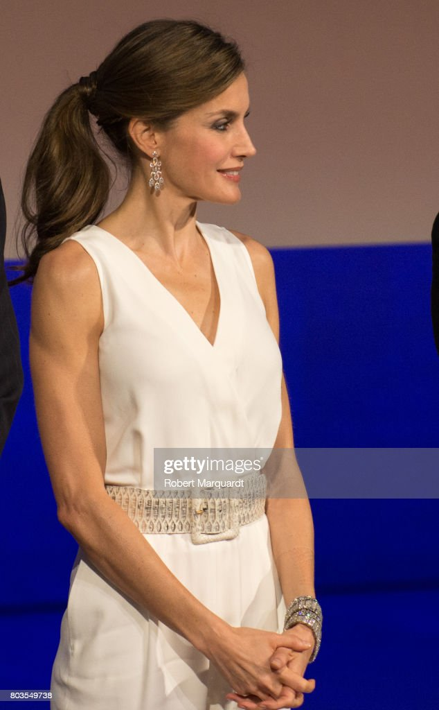 Queen Letizia of Spain attends the 'Princesa de Girona' foundation awards held at the Palacio de Congressos de Girona on June 29, 2017 in Girona, Spain.