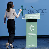 Queen Letizia Of Spain Attends 'V De Vida' AECC Awards...