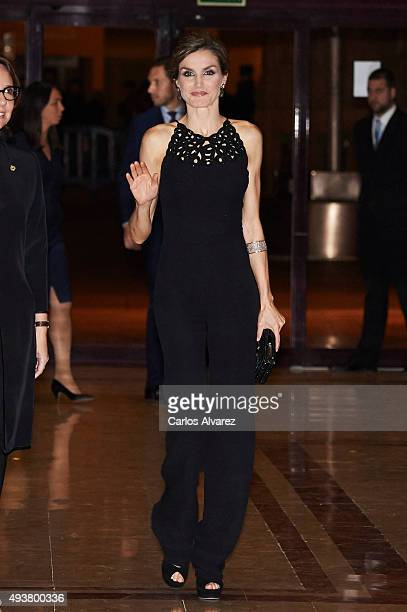Queen Letizia of Spain attends the 'XXIV Musical Week' closing concert at the Principe Felipe Auditorium during the 'Princess of Asturias 2015 Awards...