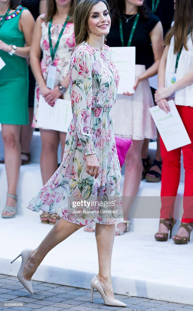 Queen Letizia of Spain attends to deliver Iberdrola Foundation Scholarships at Iberdrola building on July 5, 2016 in Madrid, Spain.