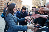 Queen Letizia Of Spain Visits La Alhambra in Granada