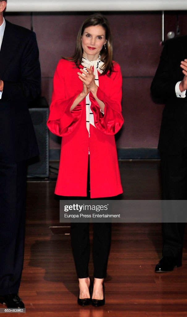 Queen Letizia of Spain delivers acreditations to the new Spain Brand Honorary Ambassadors on March 14, 2017 in Madrid, Spain.