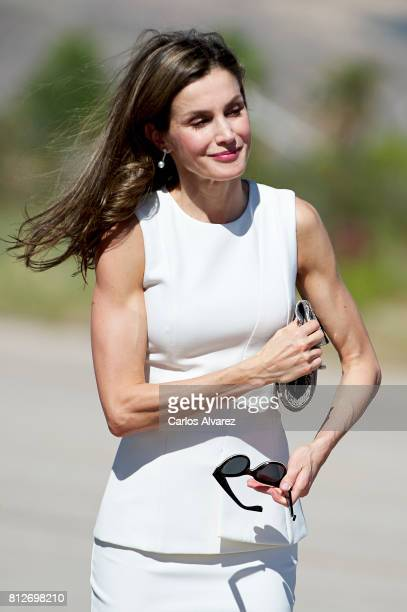 Queen Letizia of Spain departs for an official visit to United Kingdom at the Barajas Airport on July 11 2017 in Madrid Spain