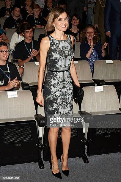 Queen Letizia of Spain inaugurates the summer courses of 'International School of Music' of Princesa de Asturias Foundation on July 16 2015 in Oviedo...