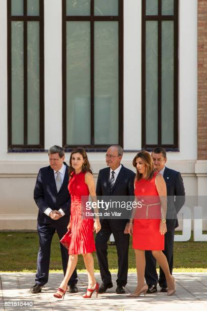 Queen Letizia of Spain Mayor of Malaga Francisco de la Torre and President of Andalucia Region Susana Diaz inaugurate the annual meeting with...