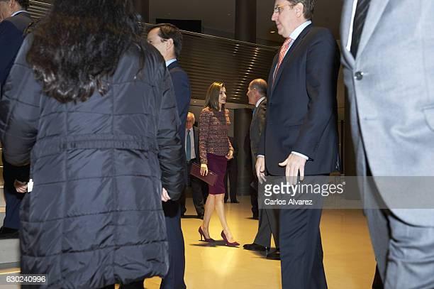 Queen Letizia of Spain meets FAD Foundation at Santander Bank on December 19 2016 in Madrid Spain
