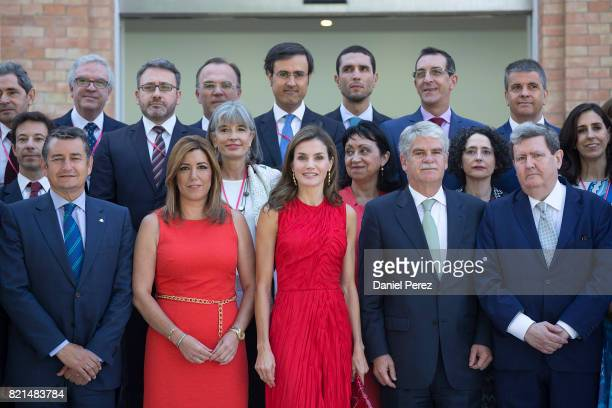 Queen Letizia of Spain President of Andalucia Region Susana DiazÊ and Spain's Ministry of foreign affairs Alfonso Dastis inaugurate the annual...