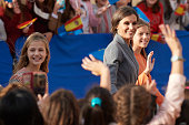 Spanish Royals Arrive At Oviedo Ahead Of 'Princesa de...