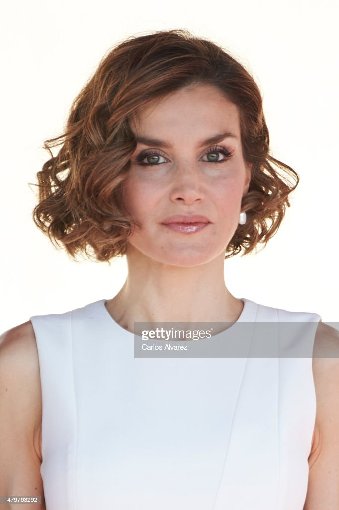 Queen <a gi-track='captionPersonalityLinkClicked' href=/galleries/search?phrase=Letizia+of+Spain&family=editorial&specificpeople=158373 ng-click='$event.stopPropagation()'>Letizia of Spain</a> receives Peruvian President Ollanta Humala Tasso at the El Pardo Palace on July 7, 2015 in Madrid, Spain.