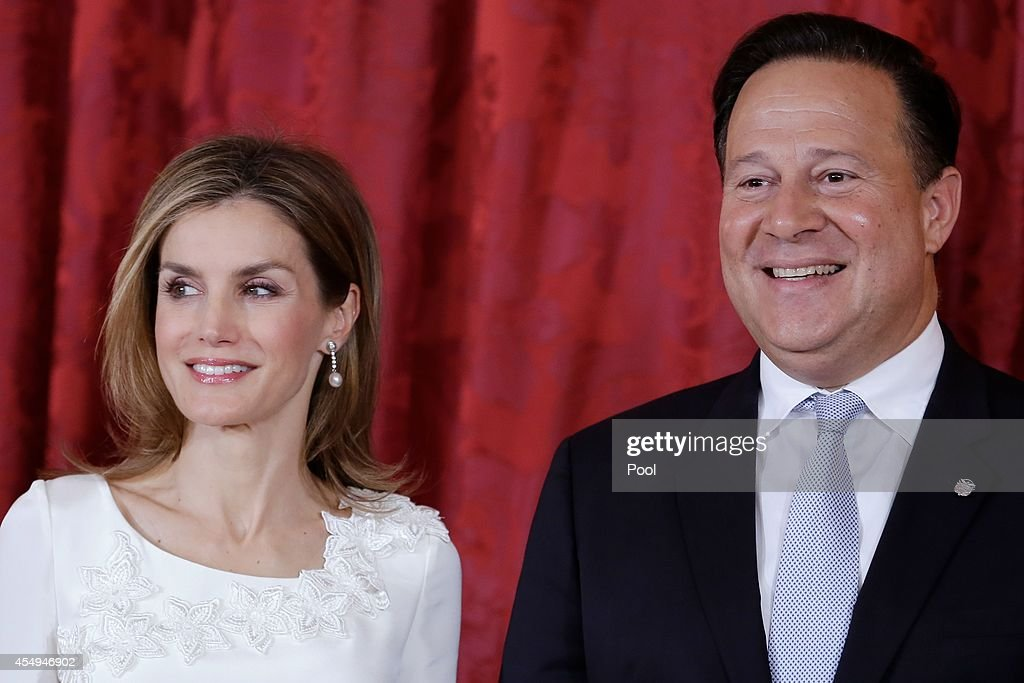 Queen <a gi-track='captionPersonalityLinkClicked' href=/galleries/search?phrase=Letizia+of+Spain&family=editorial&specificpeople=158373 ng-click='$event.stopPropagation()'>Letizia of Spain</a> (L) receives President of Panama <a gi-track='captionPersonalityLinkClicked' href=/galleries/search?phrase=Juan+Carlos+Varela&family=editorial&specificpeople=5906542 ng-click='$event.stopPropagation()'>Juan Carlos Varela</a> (R) at the Royal Palace on September 8, 2014 in Madrid, Spain.