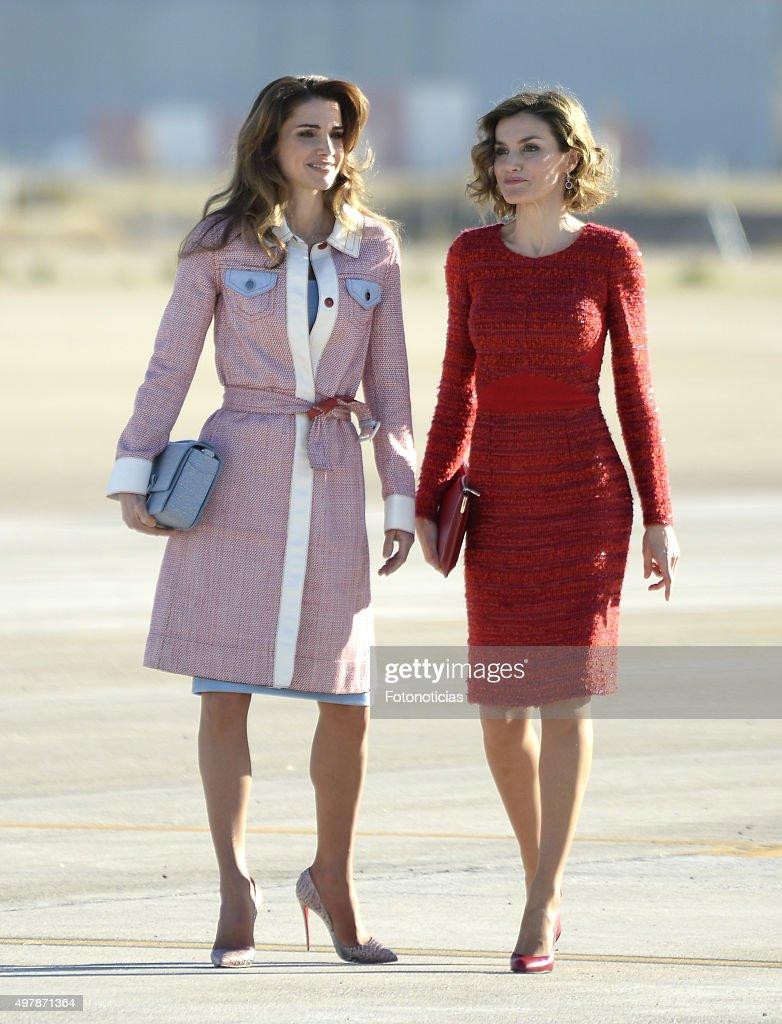 queen-letizia-of-spain-receives-queen-rania-of-jordan-at-barajas-on-picture-id497871364
