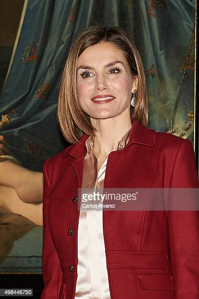Queen Letizia of Spain visit the 'Ingres' exhibition at the El Prado Museum on November 23 2015 in Madrid Spain
