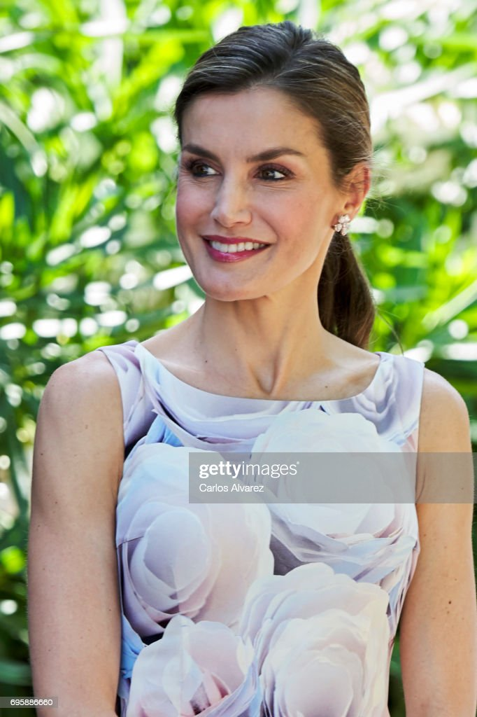 Queen Letizia of Spain visits a traditional Students Residence (Residencia de Estudiantes) on on June 14, 2017 in Madrid, Spain.