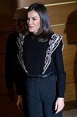 Queen Letizia Of Spain Visits FAD In Madrid