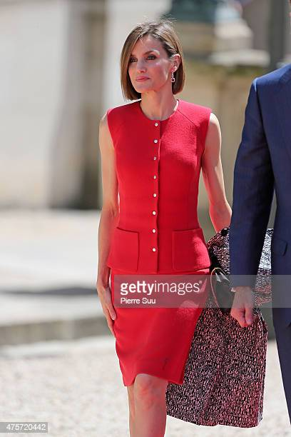 Queen Letizia of spain visits the french national assembly on June 3 2015 in Paris France