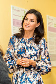 ESP: Queen Letizia Visits CREER Center In Burgos