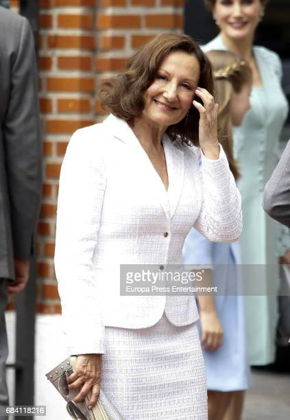 Queen Letizia's mother Paloma Rocasolano attends the First Communion of Princess Sofia at the Asuncion de Nuestra Senora on May 17 2017 in Madrid...