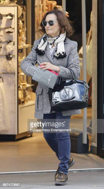 Queen Letizia's mother Paloma Rocasolano is seen on April 28 2017 in Madrid Spain