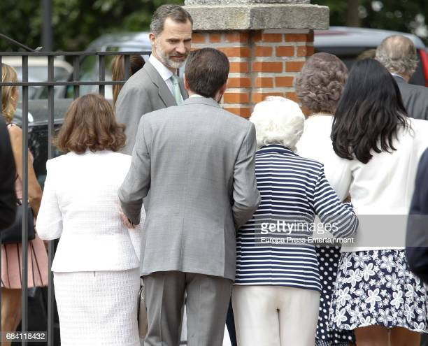 Queen Letizia's mother Paloma Rocasolano King Felipe of Spain Queen Letizia's father Jesus Ortiz Queen Letizia's grandmother Menchu Alvarez del Valle...
