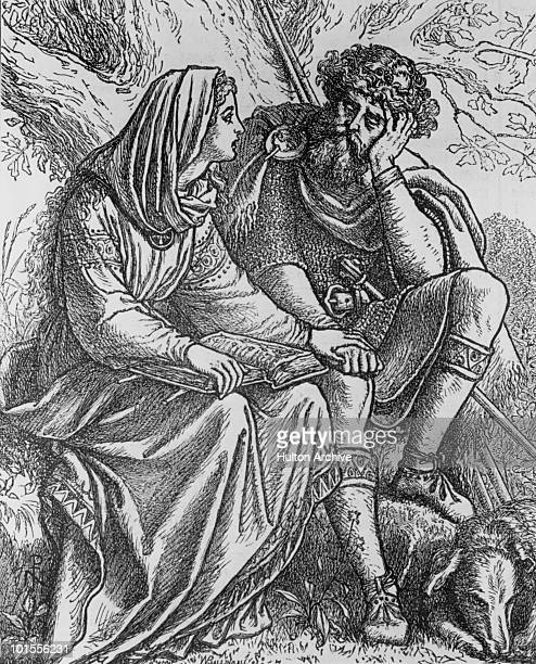 Queen Margaret of Scotland reads the Bible to King Malcolm III her husband circa 1080 She was later canonised as Saint Margaret of Scotland An...