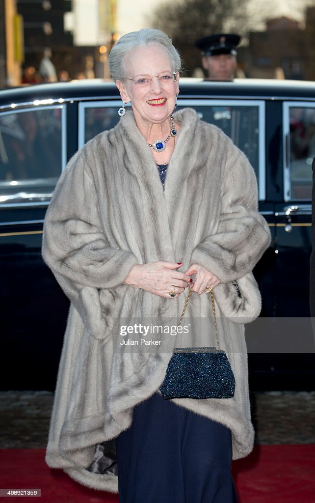 Queen Margarethe II of Denmark attends a Gala Night to mark her forthcoming 75th Birthday at Aarhus Concert Hall on April 8, 2015 in Aarhus, Denmark.